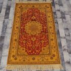YILONG 3'x5' Handknotted Silk Carpet Gold Washed Oriental Floor Area Rug G56C
