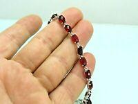 Turkish Handmade Jewelry 925 Sterling Silver Ruby Stone Women Bracelet