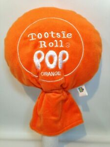 "Orange Tootsie Roll Lollipop Plush Pop Good Stuff Stuffed Soft Toy 13"""