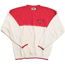 Vintage 90s Chicago Bulls NBA Lee Sport Mens XXL Pullover Red Christmas Sweater