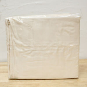 Hotel Collection TWIN Flat Shee 600 Thread Count Ivory J0Z194