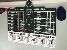 Wrigley Field Scoreboard Chicago Cubs w/ Retired Number Sign Collectible 4' Wide