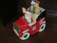 Santa in car music box reindeer and mouse movement Christmas Enesco
