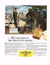 1936 BIG Vintage Old Taylor Frederic Remington Artist Cowboy Art Print Ad