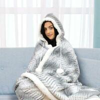 Ardor Luxury Hooded Warm Blanket White | Super, Soft Warm, Machine Washable