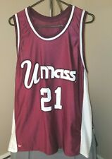 Massachusetts Amherst Minutemen NCAA Vintage Maroon #21 2XL Basketball Jersey