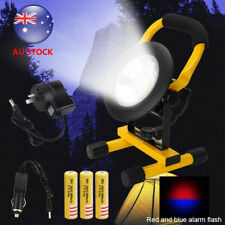 Portable 30w 24 RGB LED Floodlight Ip65 Work Lights Rechargeable Charger Lamp AU