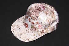 Blush Creme Rosso & Bianco Perle & Rose Stampa SILKY TOUCH cool cap hat (S209)
