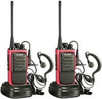 Arcshell Rechargeable Long Range Two-Way Radios with Earpiece 2 Pack Walkie