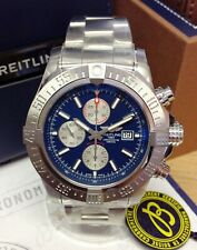 Breitling Super Avenger II A13371 Blue Baton Dial BOX AND PAPERS 2019 UNWORN