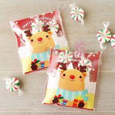 20x Reindeer XMAS Gift Bag Christmas Chocolate Treat Bag Self Adhesive Bags