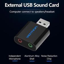 Mini Sound Card USB to 3.5mm Jack Female Headphone External Audio Card Adapter
