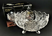 Anna Hutte Bleikristal Hand Cut Lead Crystal Fruit Candy Nut Oval Footed Bowl