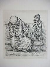 A. PAUL WEBER, Original Lithographie 1978, signiert, Die neue Melodie
