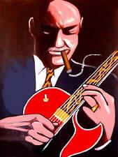 JOE PASS CIGAR PRINT poster jazz gibson archtop guitar virtuoso cd eximious live