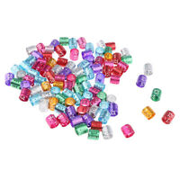 100 Stück Bunt Haar Perlen Dreadlocks Perlen Metallperle Zopf Perlen Haarperlen