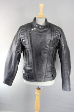 CLASSIC APACHE LEATHERS BLACK LEATHER BIKER JACKET 38 INCH