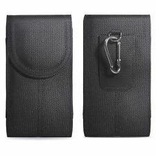 Vertical Nylon Phone Case Cover Pouch Holster w/ Belt Clip for Large Cell Phone