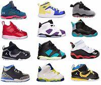 Nike Jordan Toddler TD baby shoes Retro 6 Ring phase mid flex Black Red White