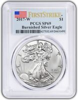 2017 W Burnished Silver Eagle PCGS SP69 - First Strike Label