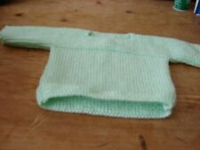 brand new hand knitted baby mint green unisex top 16 inch 40 cms NEWBORN