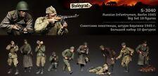 Stalingrad Russian Infantry in action Berlin Big set (10 figures) 1/35 Resin Kit