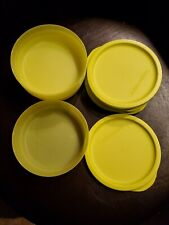 Set of 6 Tupperware Yellow Green Bowls with Lids 200mL 3/4 c. 8032A 7915A