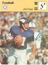 JOE KAPP 1979 Sportscaster card  #54-14 MINNESOTA VIKINGS