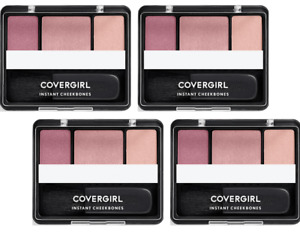 4 Pack CoverGirl Instant Cheekbones Contouring Blush, 220 Purely Plum