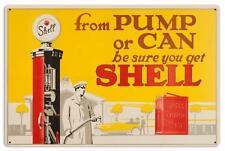 Vintage Shell Gas Station Motor Oil Gasoline Metal Sign Man Cave Garage Barn 031