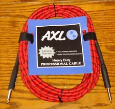 20' RED & BLACK TWEED GUITAR CABLE CORD BASS ELECTRIC ACOUSTIC STAGE STUDIO KEYS