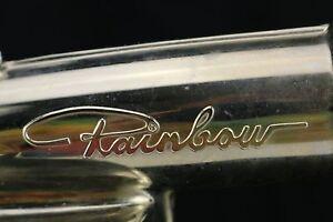 "Vintage 6.5"" Rainbow Vacuum Chrome Spray Bottle Glass Sprayer Attachment"