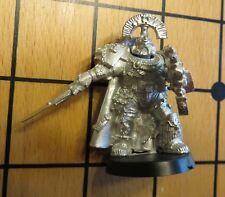 40k Rare oop Vintage Metal Space Marine Veteran Captain w Power Sword