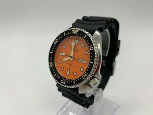 [MINT] SEIKO 7548-700C DIVER 150 Quartz Vintage Orange Watch From JAPAN W045