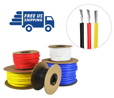 26 AWG Silicone Wire Fine Strand Tinned Copper 100 ft. each Red, Black, & Yellow