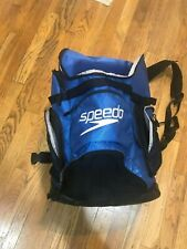 Speedo swim bag backpack blue Euc duffle luggage carry on sports
