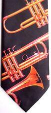 "Ralph Marlin Men's Novelty Polyester Tie 56"" X 3.25"" ""Trumpets"""