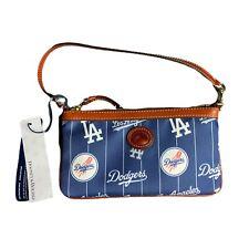 Dooney & Bourke Los Angeles Dodgers MLB Large Slim Nylon Wristlet LA Blue NEW
