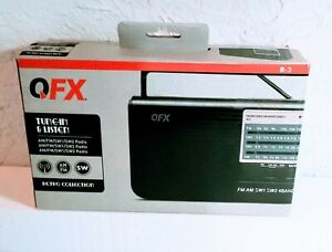 QFX R-3 AM/FM/SW1/SW2 Handheld 4-Band Radio LED Power Indicator, Open Box New