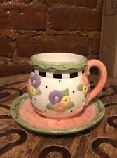 Mary Engelbreit Teacup & Saucer-Rare (April Showers), 2001