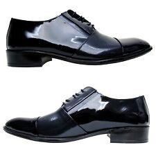 Herren Schuhe Echtleder Lack Gr.43 Marineblau