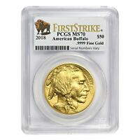 2018 1 oz Gold American Buffalo PCGS MS 70 First Strike (Buffalo Label)