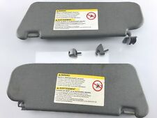 2004-2011 Chevrolet Aveo Sunvisor Visor Shade Grey Pair Set OEM Used