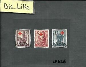 BIS_LIKE:set Liechtenshein RED Cross used LOT SEP 03-326