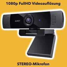 AUKEY Webcam FullHD 1080p PC-LM1E FaceTime Laptop PC Stereo Mikro Skype Kamera
