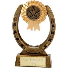 Horse Shoe Trophy Rosette Pony Riding Award Show Jumping Engraving A1218C