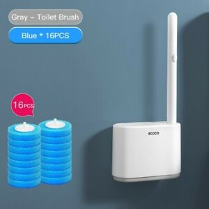 Bathroom Toilet Wall Mounted Replacement Brush Head Toilet Brush Cleaner Set