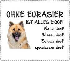 """Displayreinigungstuch Eurasier """"ALLES DOOF"""" Brillenputztuch NEU Hund GT0027"""