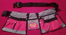 "RED TOOLBOX Rugged Tool Apron Youth, Ladies, Men, Up to 40"" Waist. New"