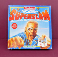 WCW Superslam Board Game by Waddingtons 1991 complete (wrestling dice card)